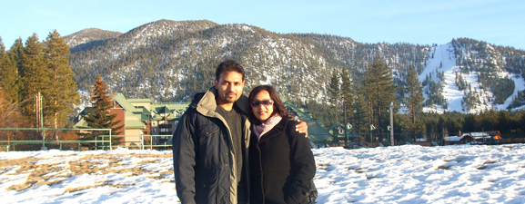 Nitin and Nisha Anand in Lake Tahoe